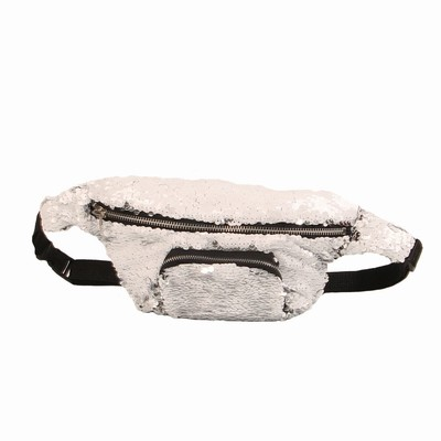 Fashion Sequin Waist Pack Women Gift For Sale White