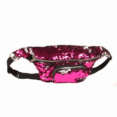 Popular Sequin Waist Pack In Bulk Women Gift Pink Silver
