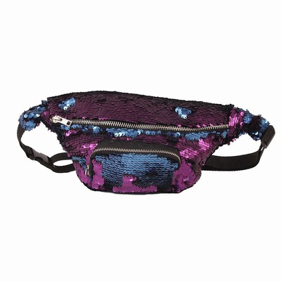 Sequin Bag Cross Body Multipurpose Bag Matte Blue Purple