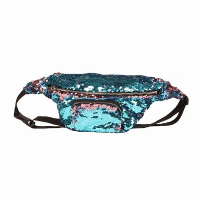 Cute Crossbody Sequin Bag Perfect Gift Light Blue Wine