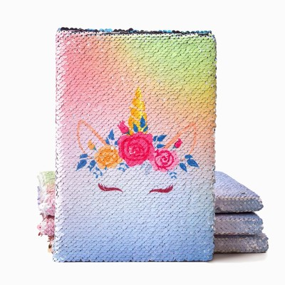 Sequin Paper Notebook Unicorn Wholesale Supplier Wine