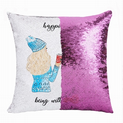 Awesome Personalized Sister Gift Photo Flip Sequin Pillow
