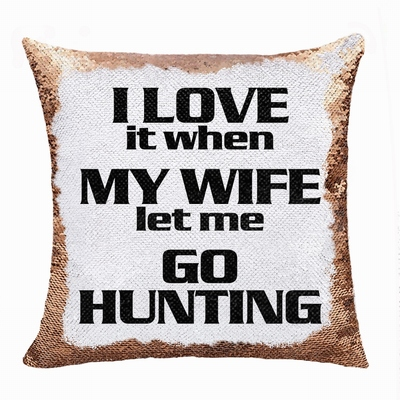 Bulk Best Double Sided Sequin Pillow Wife Ass Text Gift