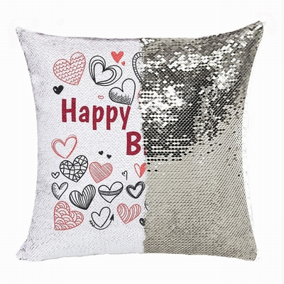 Cheap Sequin Magic Pillow Personalized Photo Gift Birthday