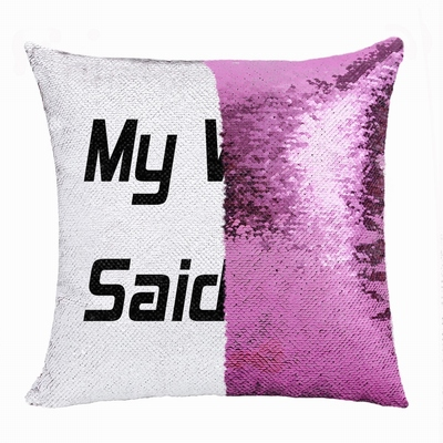 Creative Personalized My Wife Gift Text Sequin Magic Pillow