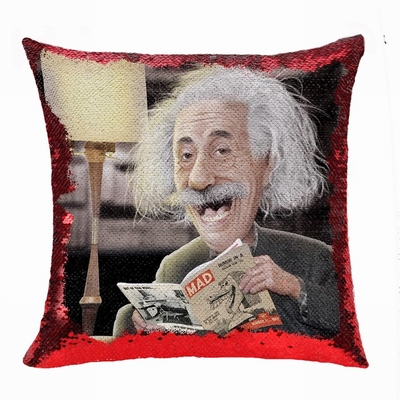 Fashion Wholesale Reversible Sequin Pillow Professor Image Gift