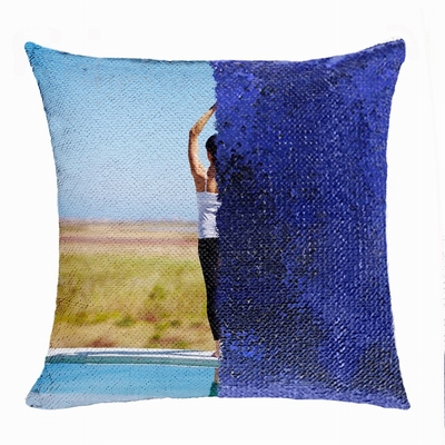 Special Photo Yoga Gift Shining Personalized Flip Sequin Pillow