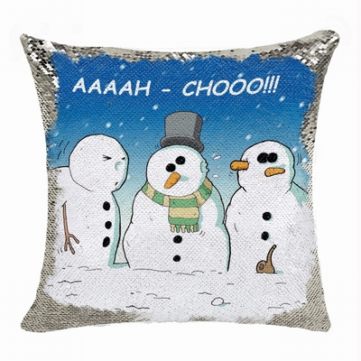 Christmas Custom Funny Gift For Him Sequin Cushion Cover