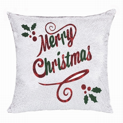 Christmas Merry Cool Custom Gift Double Sided Sequin Pillow