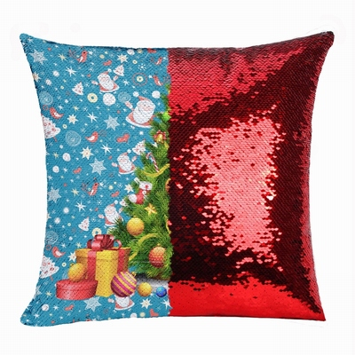 Christmas Tree Personalized Awesome Photo Gift Sequin Pillow