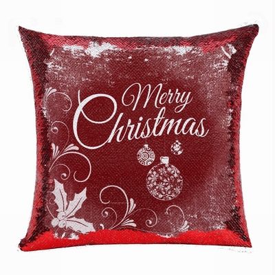 Merry Christmas Gift Reversible Sequin Pillow Best Gift