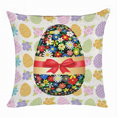 Easter Egg Custom Present For Children Flip Sequin Pillow