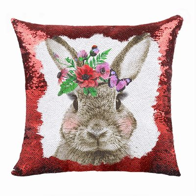 Rabbit Festival Sequin Magic Pillow Cute Gift