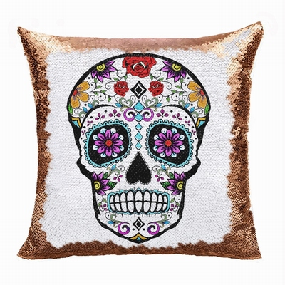 Skull Magic Pillow Handmade Gift 7 Sequins Custom Gift
