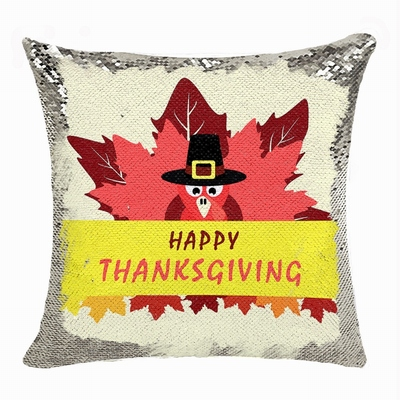 Thanksgiving Sequin Cushion Cover Perfect Personazlied Gift