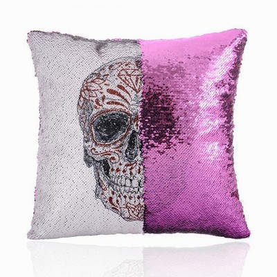 Skull Design Sequin Pillow Perfect Gift Wholesale