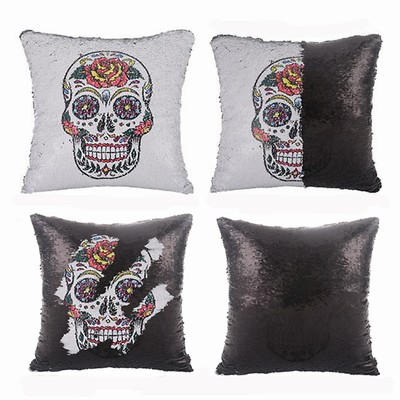 Wholesale Sequin Magic Pillow Skull Fest Gift