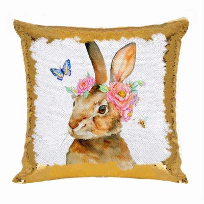 Sequin Pillow Online Happy Easter Day Bunny Gift