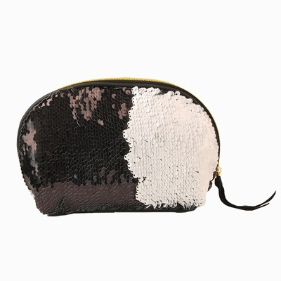 Wholesale Shine Sequin Shell Evening Bag White Black