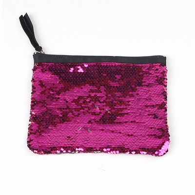 Party Favors Sequin Evening Bag Pink Silver