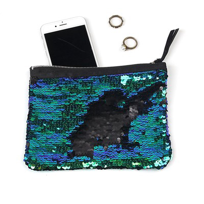 Brand New Sequin Party Pouch Black Gradient Color