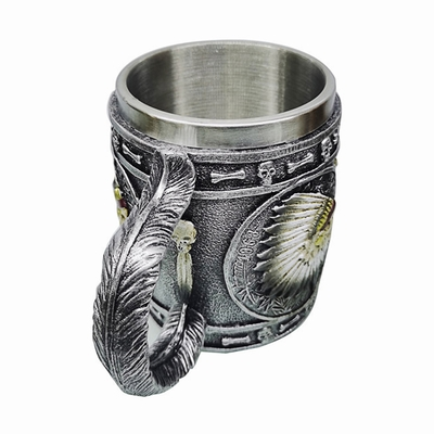 American Indian Skull Head Mug New Design Gift