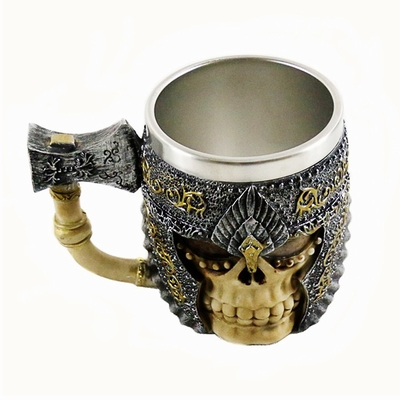 Axe And Helmet Skull Mug Amazing Gift For Club