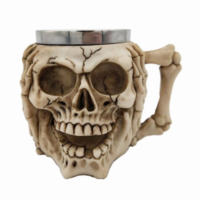 Hand Covering Face Skull Mug Wonderful Gift