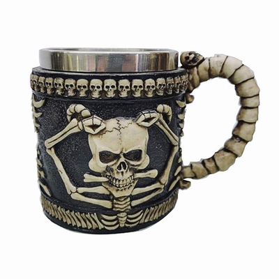 Human Skull With Horns Mug Clever Gift