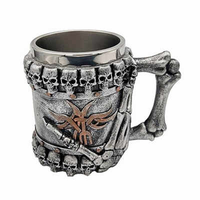 Skeleton Hand Skull Head Cup Unusual Gift