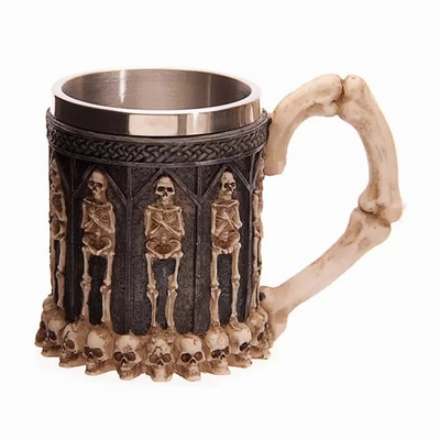 Skeleton Hands On Chest Mug Fashion Gift