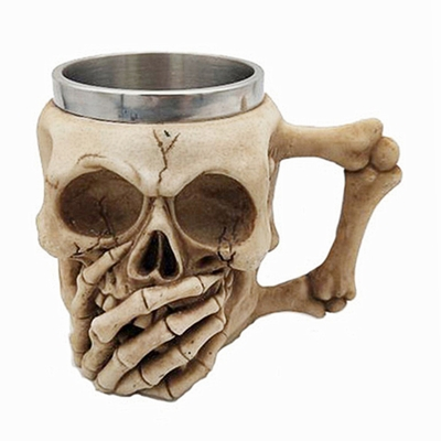 Skull Covering His Mouth Cup Attractive Gift