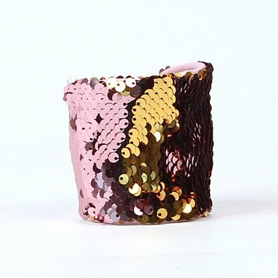 Reversible Sequin Wristlet Gift For Her Wine Gold