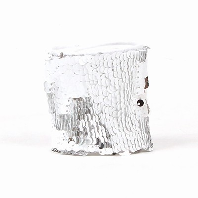 Shining Sequin Wristband Party Gift Silver White