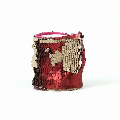 Sequin Wristband Funny Gift Matte Red Rose Gold