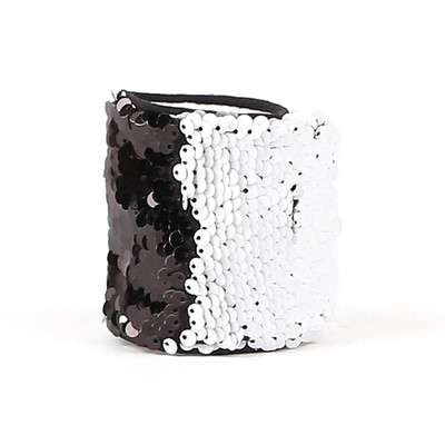 Bulk Sequin Bracelet Dancer Circlet Black White