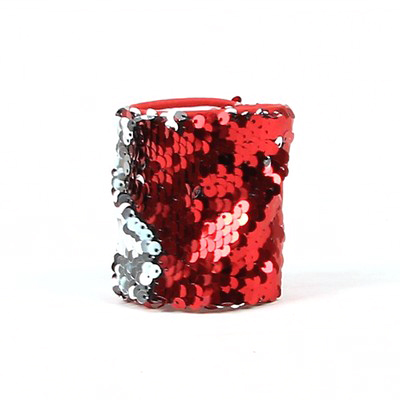Sequin Wristband Party Favors Red Silver In Bulk