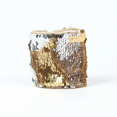 Sequin Wristband Color Change Gold Silver Wholesale