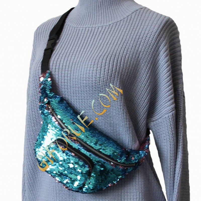 Cute Crossbody Sequin Bag Perfect Gift Light Blue Wine - Click Image to Close