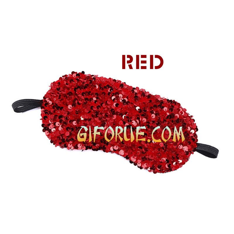Crystal Sequin Eye Mask Amazing Gift Blindfold 10 Pack - Click Image to Close