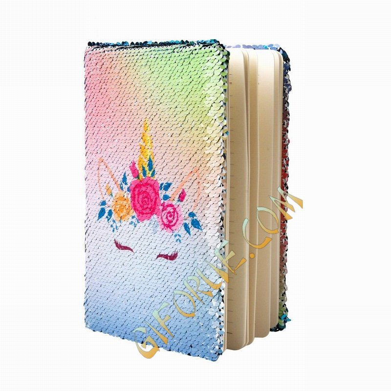 Unicorn Sequin Notebook Manufacturers Gift For Her Purple - Click Image to Close