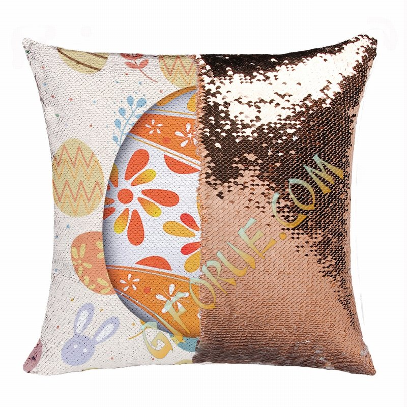Easter Engraved Gift For Family Reversible Sequin Pillow - Click Image to Close