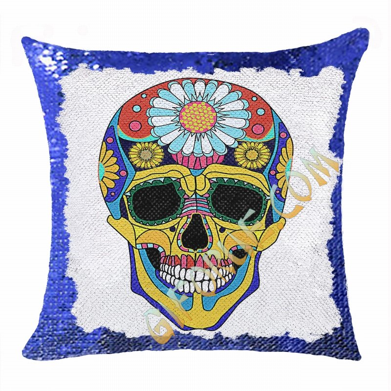 Skull Magic Cushion Cover Personalized Photo Gift Fashion - Click Image to Close