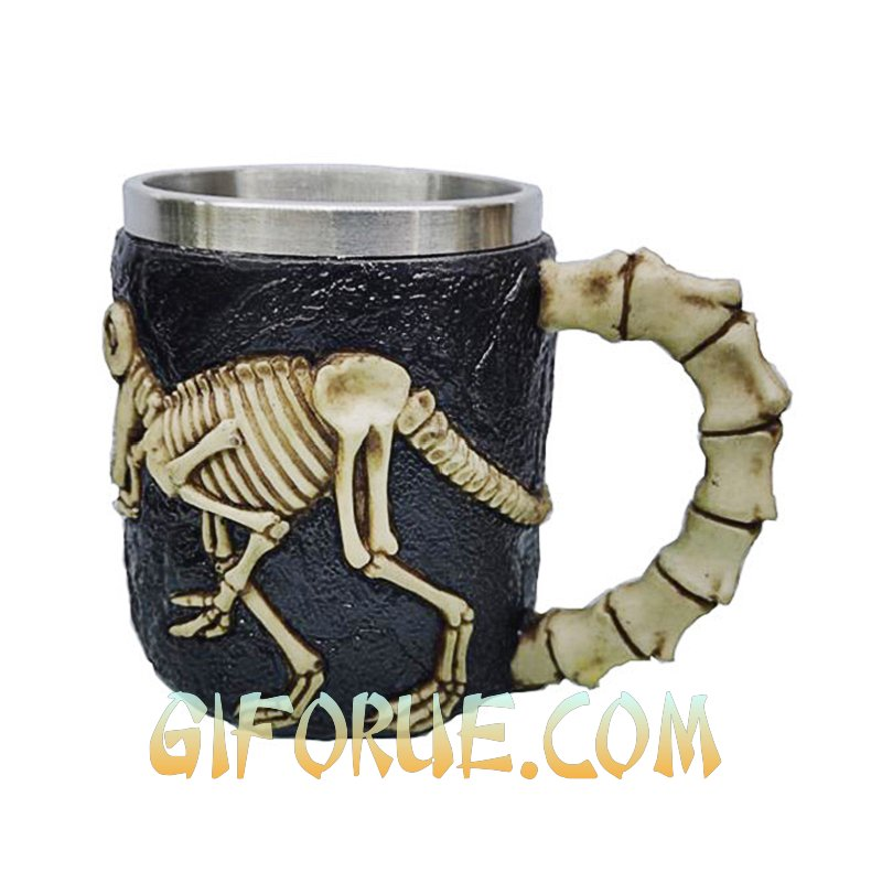 Dinosaur Skeleton Bone Mug Quality Gift - Click Image to Close