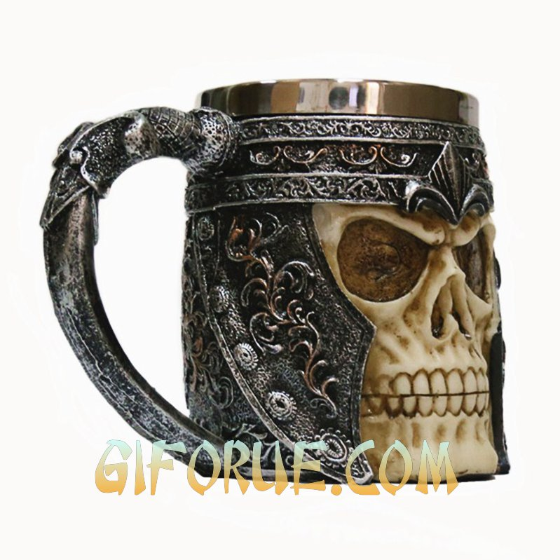 Helmet Skull Head Cup Best Experience Gift - Click Image to Close