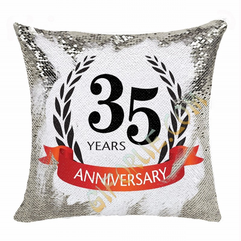 Popular Personalized Photo Sequin Magic Pillow Anniversary Gift - Click Image to Close
