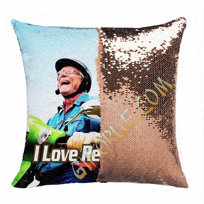 Best Retirement Gift Personalised Image Double Sided Sequin Pillow - Click Image to Close