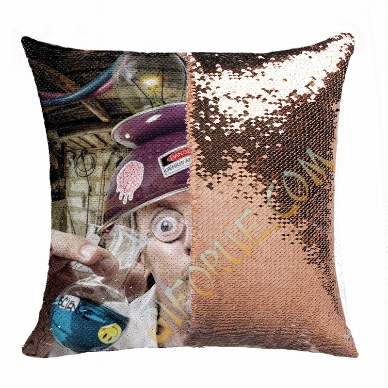 Creative Professor Gift Personalised Picture Sequin Cushion Cover - Click Image to Close