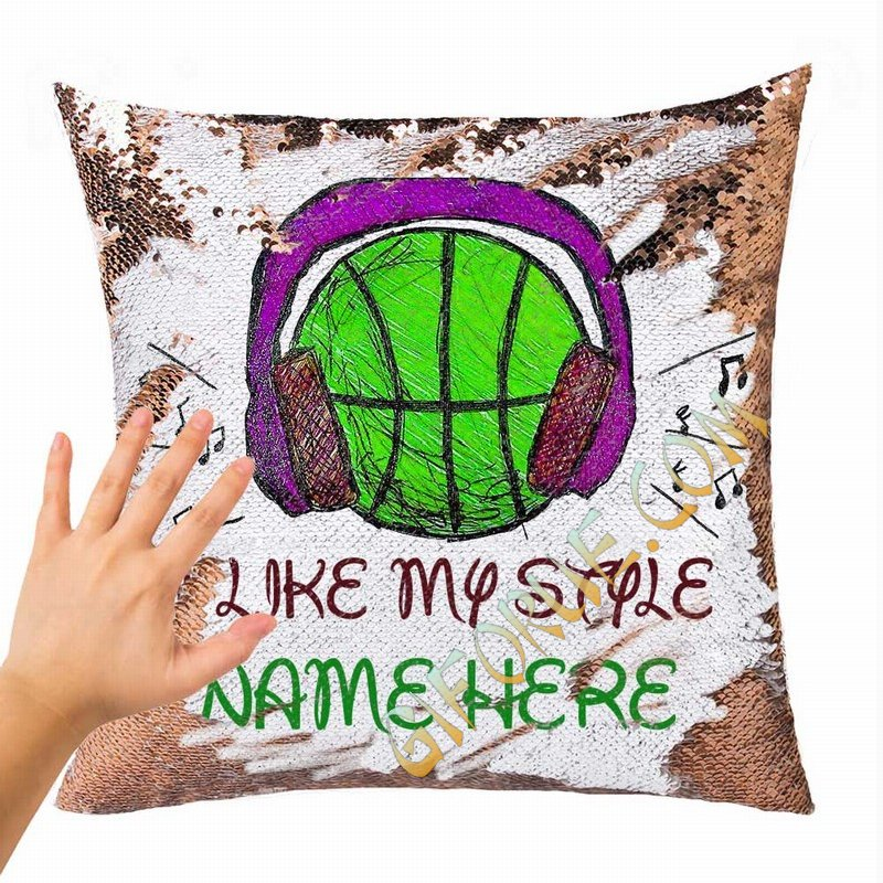 Magic Sequin Cushion Cover Name Express Yourself Gift I Like My Style - Click Image to Close