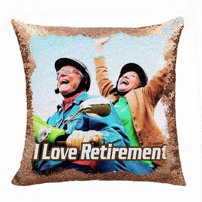 Best Retirement Gift Personalised Image Double Sided Sequin Pillow
